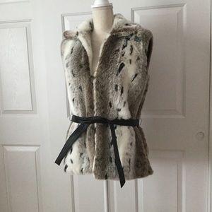 Jackets & Blazers - Custom Made Faux Snow Leopard Vest - Like New!
